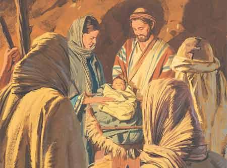 shepards see baby Jesus
