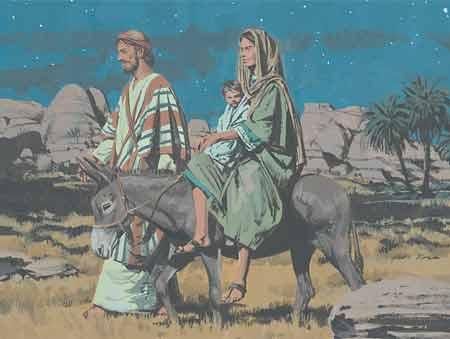 Joseph flees with family