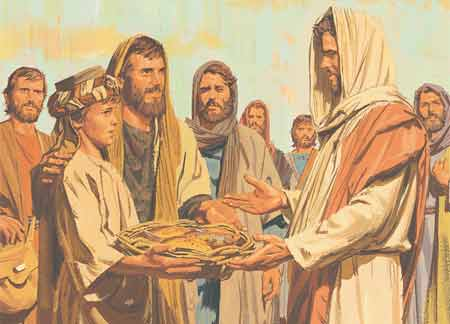 New Testament Stories Chapter 28 Jesus Feeds 5 000 People