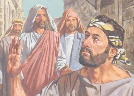 con Sus discípulos cuando vieron a un hombre que había nacido ciego ...