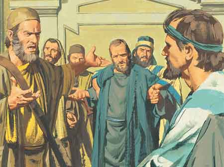Men were angry with Paul
