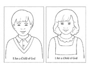 coloring page, I Am a Child of God