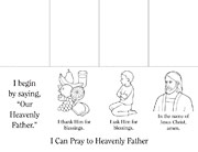 coloring page, prayer flip book