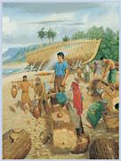 Nephi building a ship