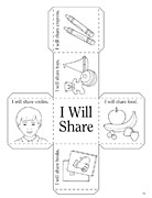 coloring page, sharing cube