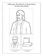 coloring page, the Church of Jesus Christ