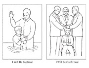 coloring page, baptism and confirmation