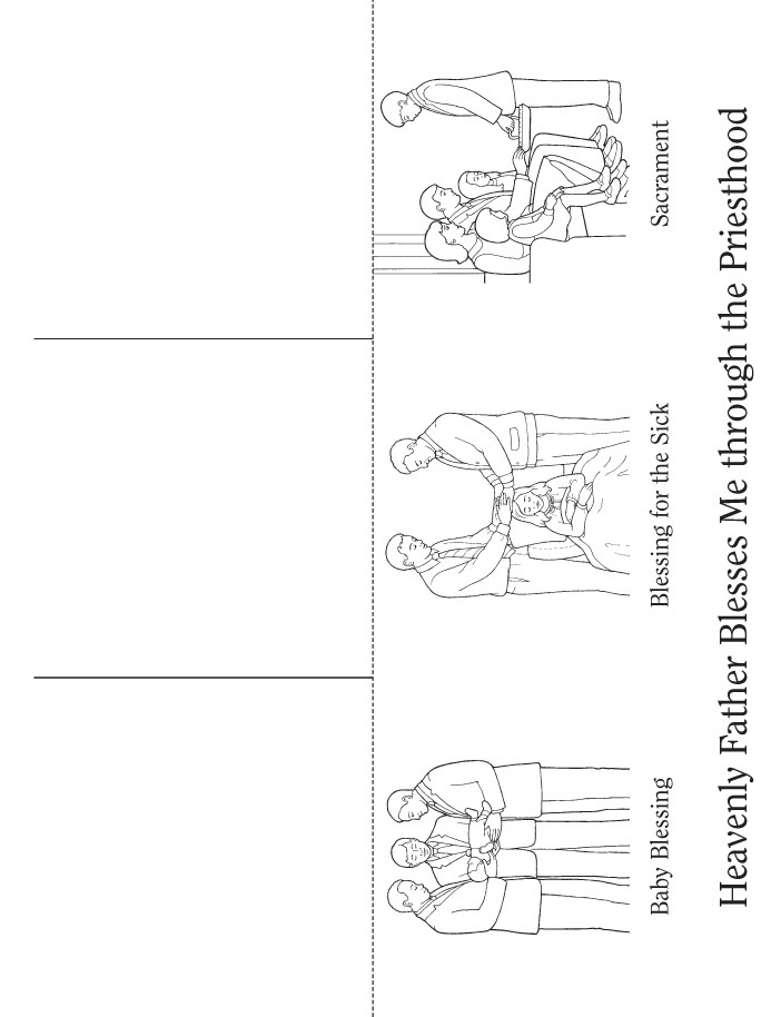 Coloring Page Priesthood Flip Book Baby Blessing