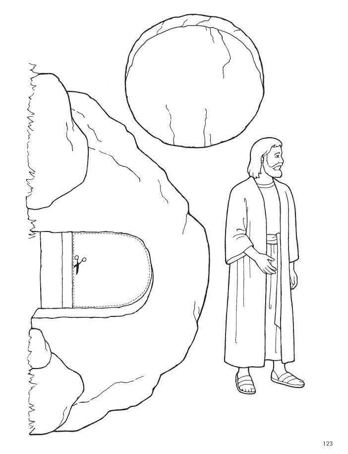jesus ist auferstanden ausmalbild - ausmalbilder und vorlagen