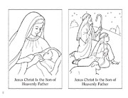 coloring page, Nativity pictures