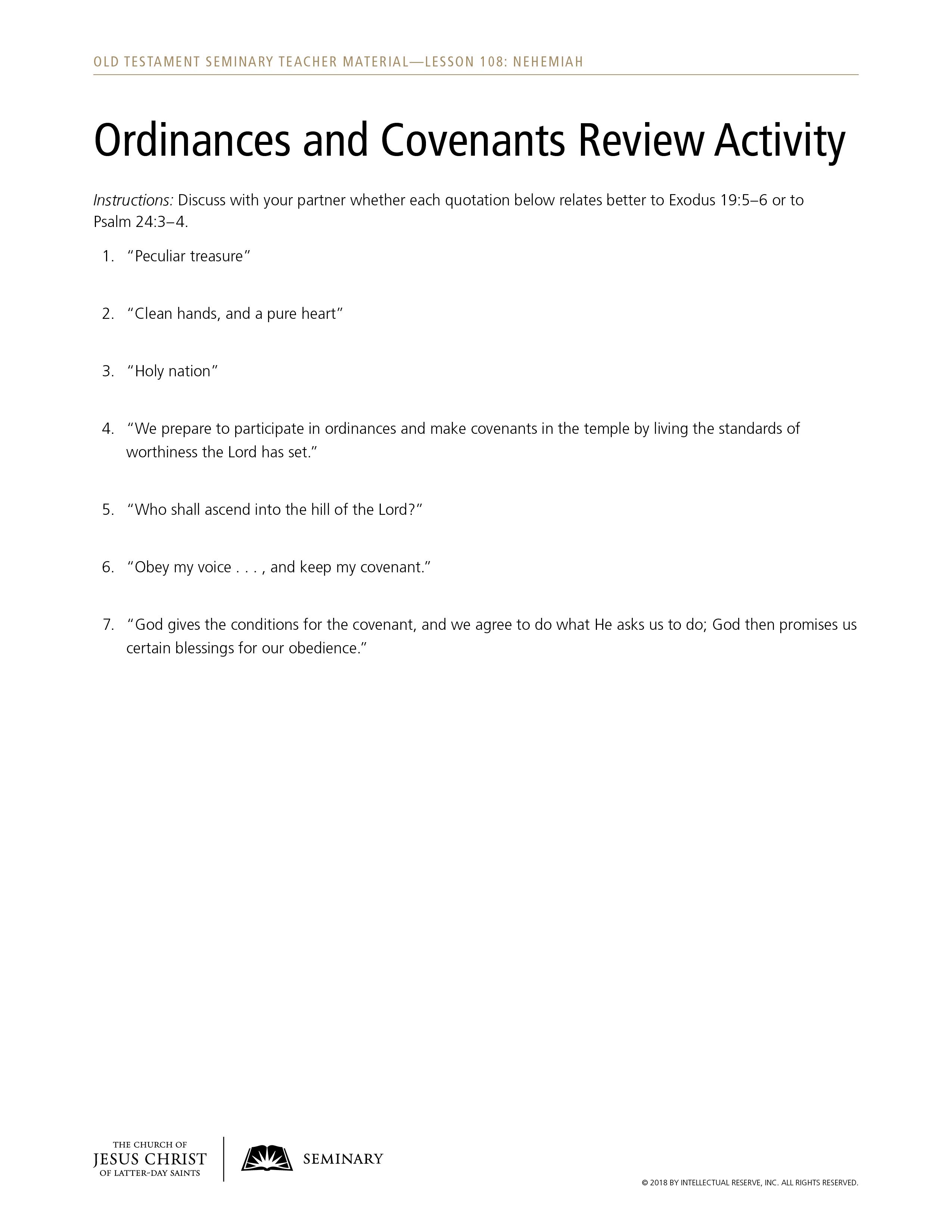 5 old testament covenants