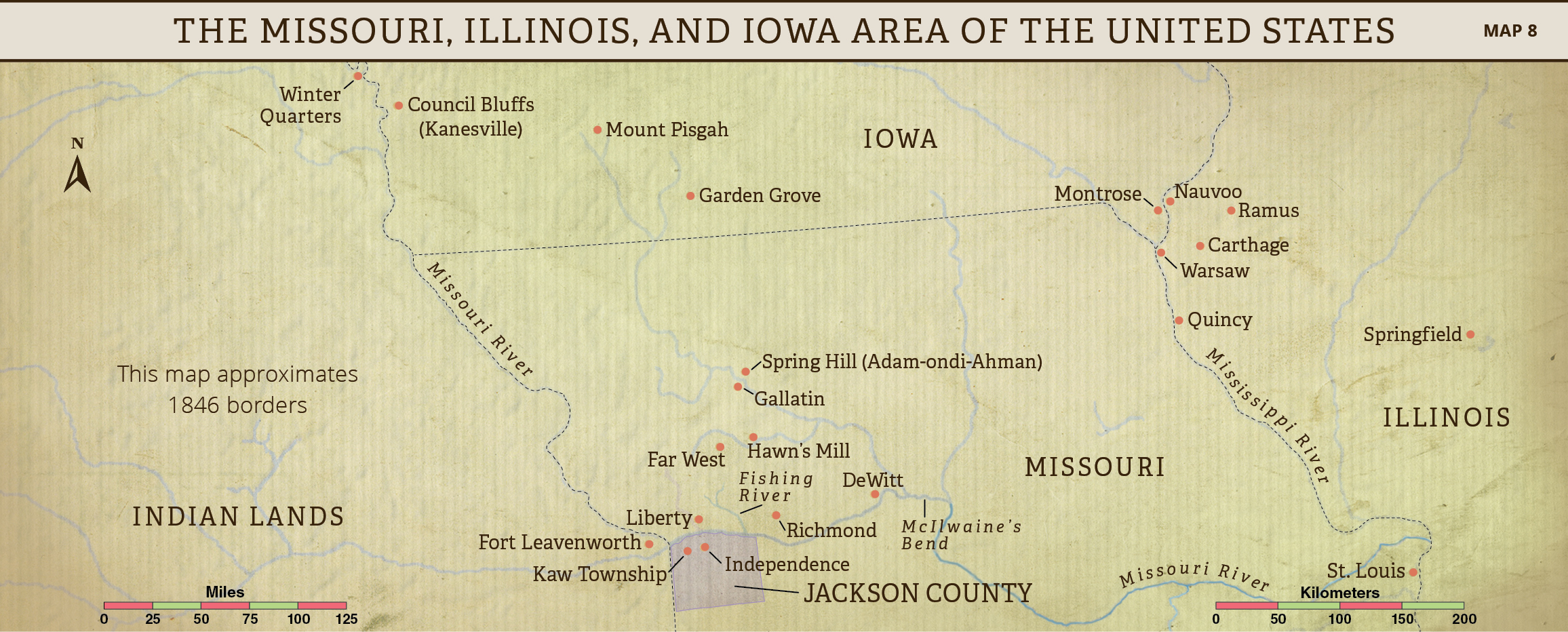 Far West Missouri Map.Lesson 18 The Expulsion Of The Saints From Missouri