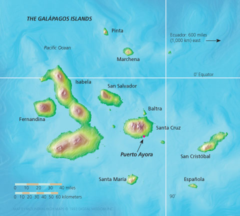 map of Galápagos Islands