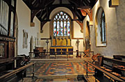 interior of parish church in Quainton, England