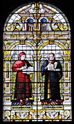 window with picture of William Tyndale