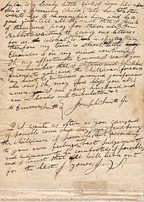Joseph Smith letter