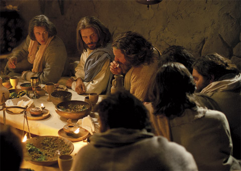 Jesus and apostles at table