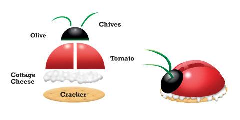 ladybug cracker snack