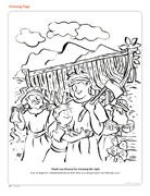 Nephi Builds A Boat Coloring Page