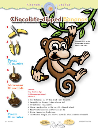 chocolate-dipped bananas