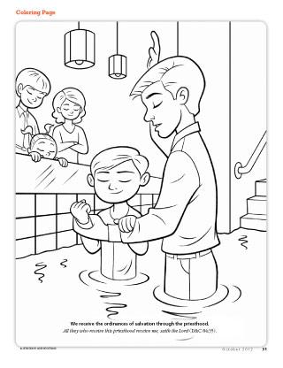 lds baptism coloring pages Coloring Page   friend lds baptism coloring pages