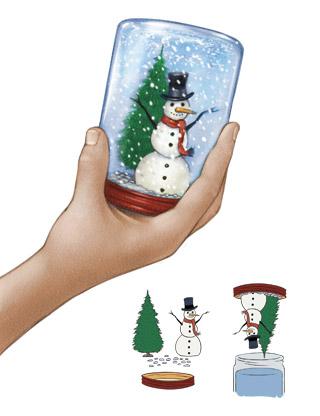 snowman in jar