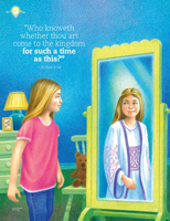 girl sees Esther in mirror