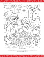 coloring page, Jesus Christ Is Born
