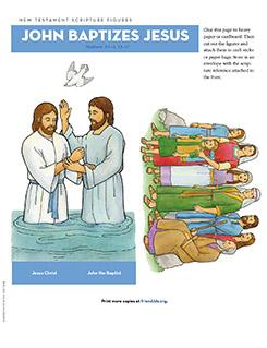 John The Baptist And Jesus For Kids New Testament Scriptur...