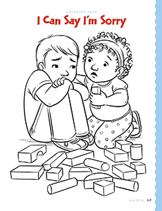 I am sorry coloring pages coloring page for I can be a friend coloring page