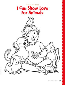 coloring page - I Can Be A Friend Coloring Page