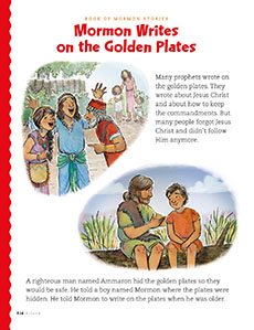 Mormon Writes on the Golden Plates, 1