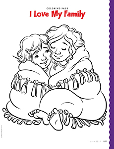 13409 000 042 Coloring Page Click To View Larger I Love My Family