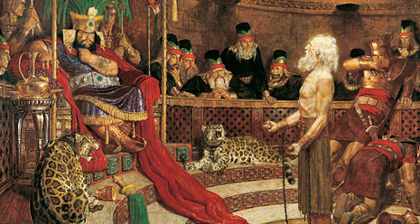 Abinadi Appearing before King Noah