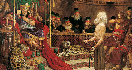 Abinadi Appearing before King Noah