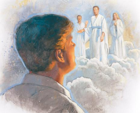 young man seeing spirit world