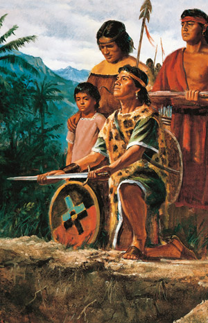 Lamanites burying weapons