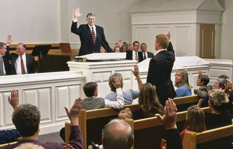man at pulpit