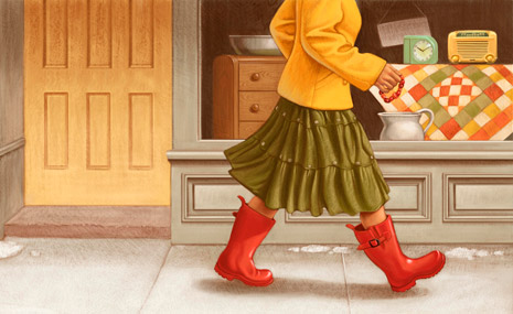 girl in galoshes
