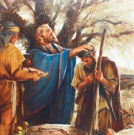 Melchizedek Blesses Abram [Abraham]
