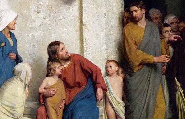 Jesus with little boy