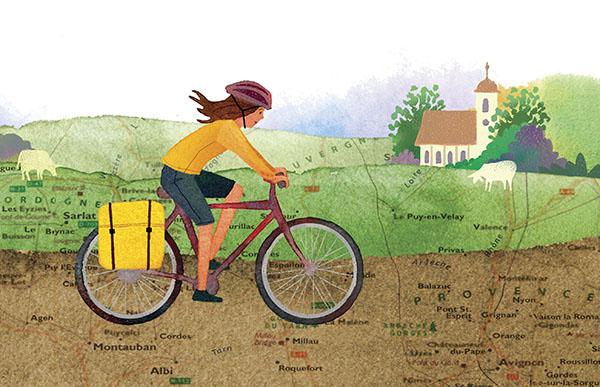 bike riding through France