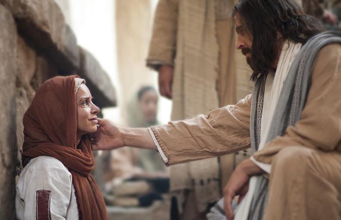 Christ healing woman
