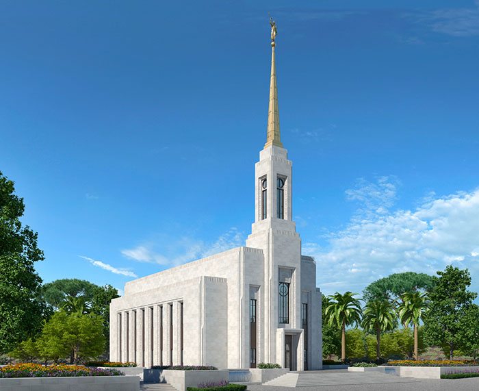 Artist rendering of the Lisbon Portugal Temple