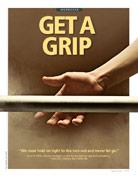 hand gripping rod
