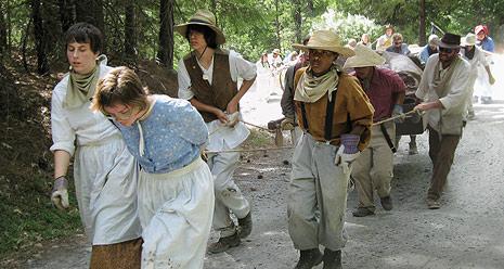 youth on pioneer trek
