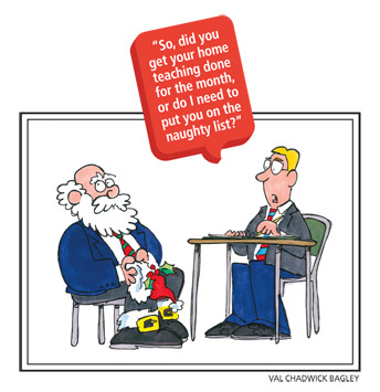 Santa Claus in interview