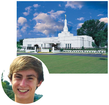 boy and Memphis Tennessee Temple