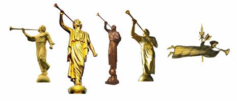 angel Moroni statues
