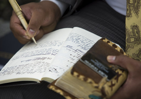 missionary writing in journal